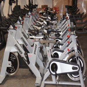 Spin bikes lot